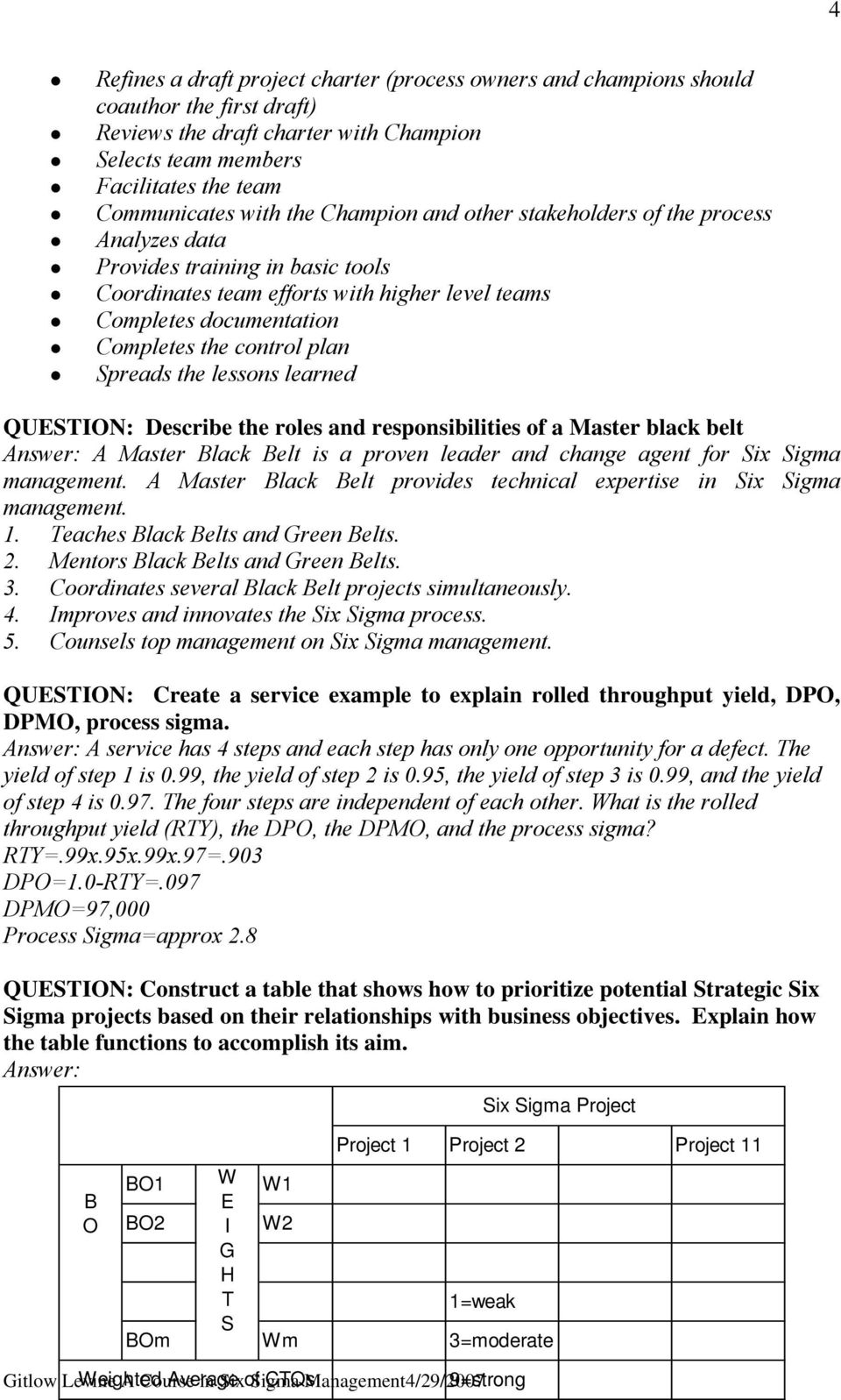 rols and rsponsibilitis of a Mastr black blt A Mastr Black Blt is a provn ladr and chang agnt for Six Sigma managmnt. A Mastr Black Blt provids tchnical xprtis in Six Sigma managmnt.
