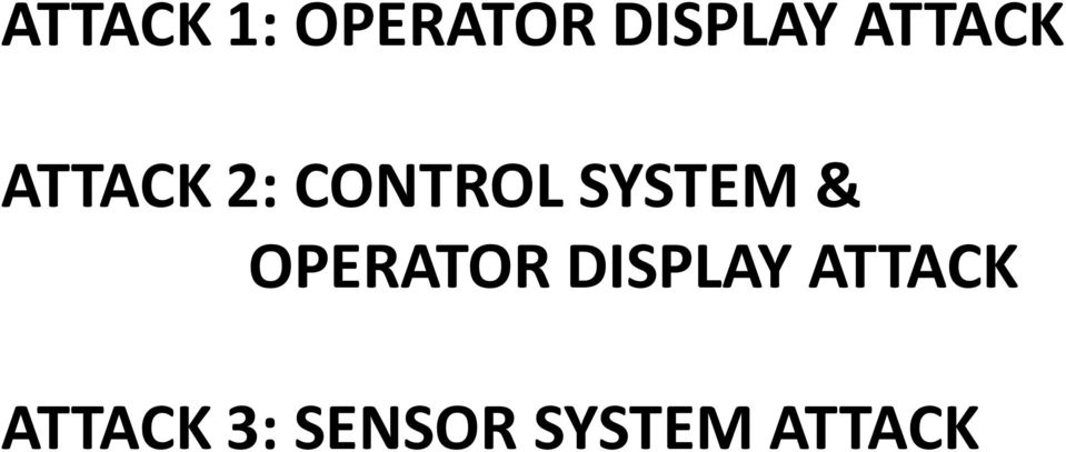 SYSTEM & OPERATOR DISPLAY