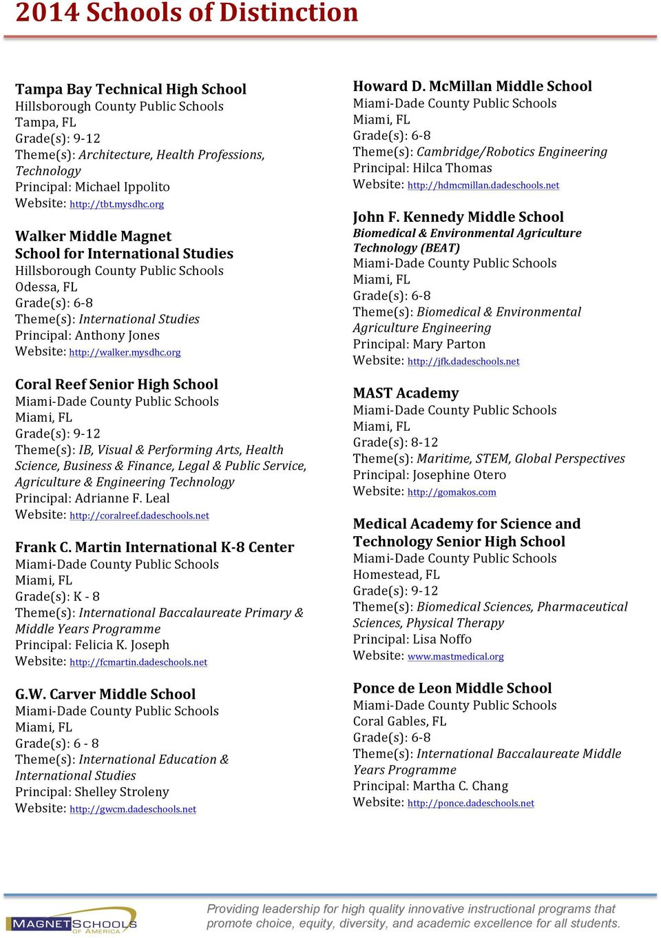 org Walker Middle Magnet School for International Studies Hillsborough County Public Schools Odessa, FL Grade(s): 6-8 Theme(s): International Studies Principal: Anthony Jones Website: http://walker.