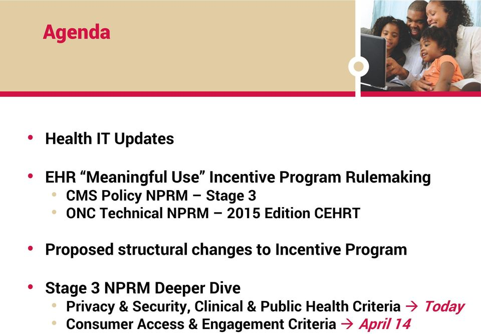 changes to Incentive Program Stage 3 NPRM Deeper Dive Privacy & Security,