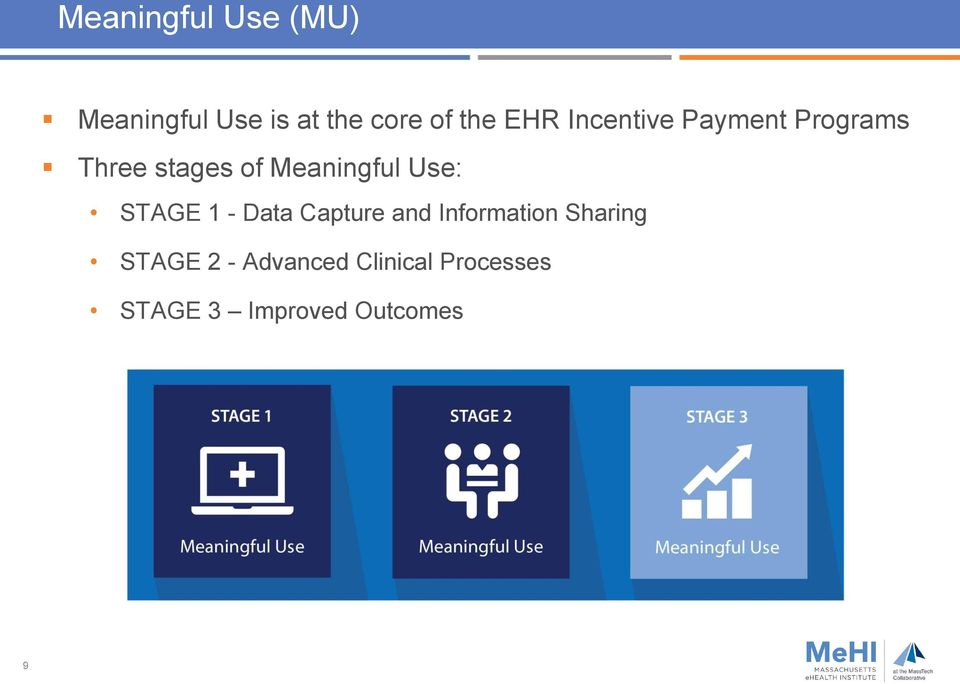 Use: STAGE 1 - Data Capture and Information Sharing STAGE