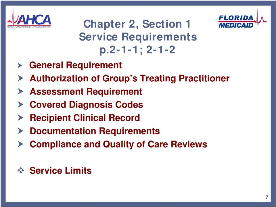 Practitioner Assessment Requirement Covered Diagnosis Codes Recipient