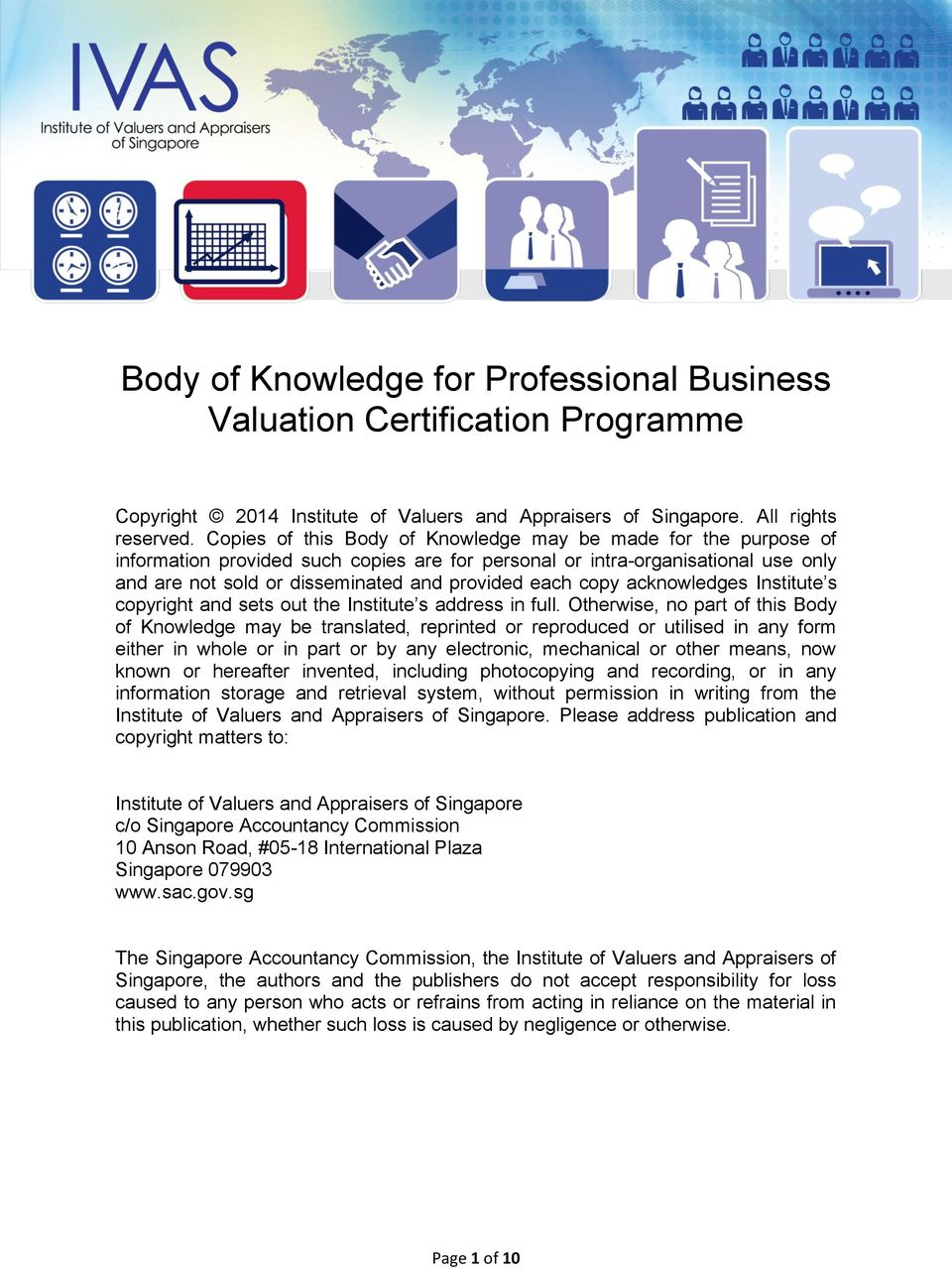 Body Of Knowledge For Professional Business Valuation Certification