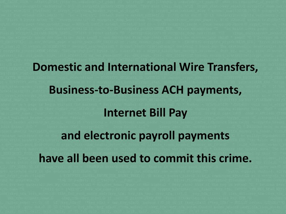 payments, Internet Bill Pay and