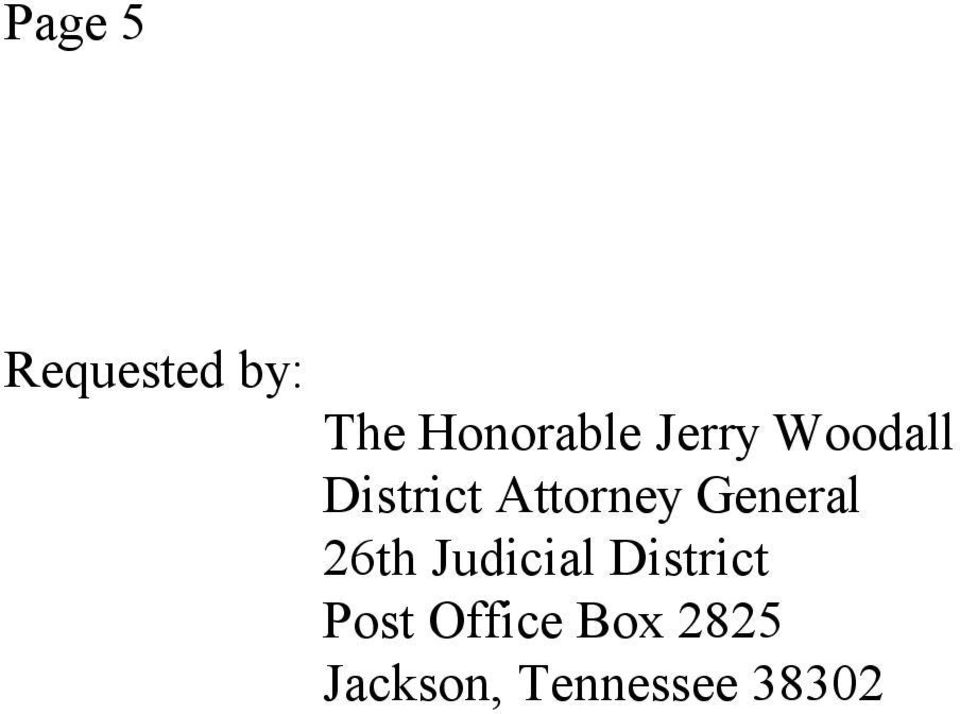 General 26th Judicial District Post