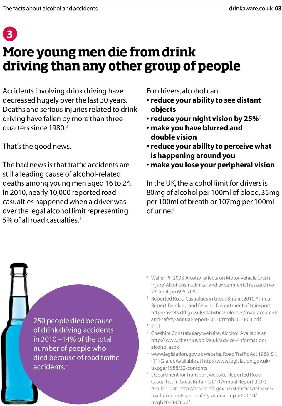 The bad news is that traffic accidents are still a leading cause of alcohol-related deaths among young men aged 16 to 24.