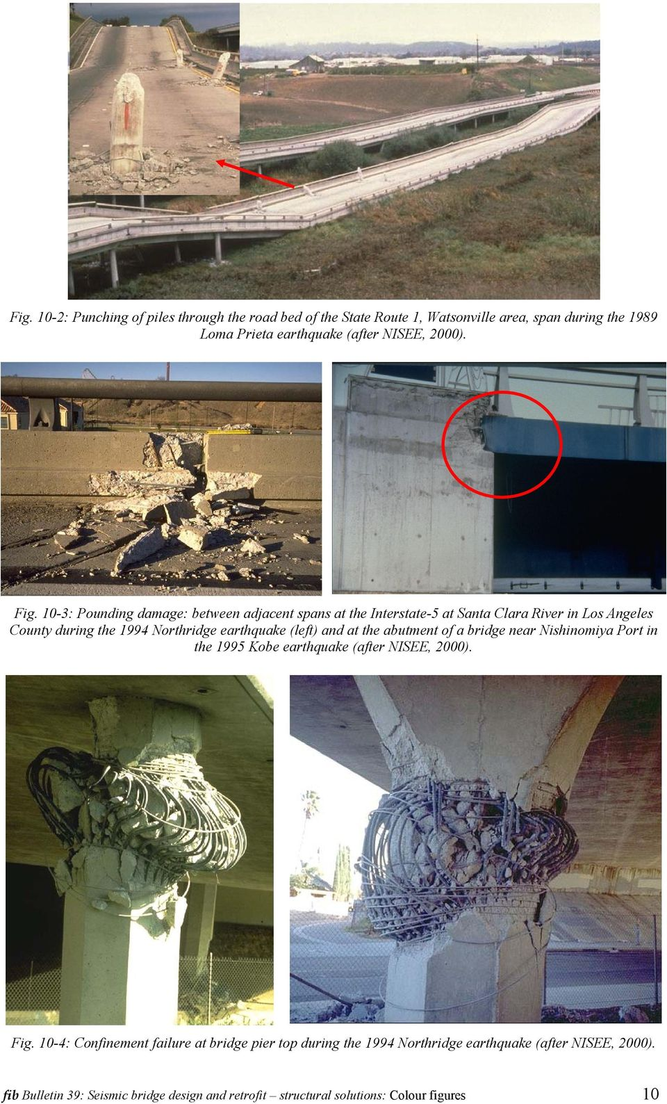 (left) and at the abutment of a bridge near Nishinomiya Port in the 1995 Kobe earthquake (after NISEE, 2000). Fig.