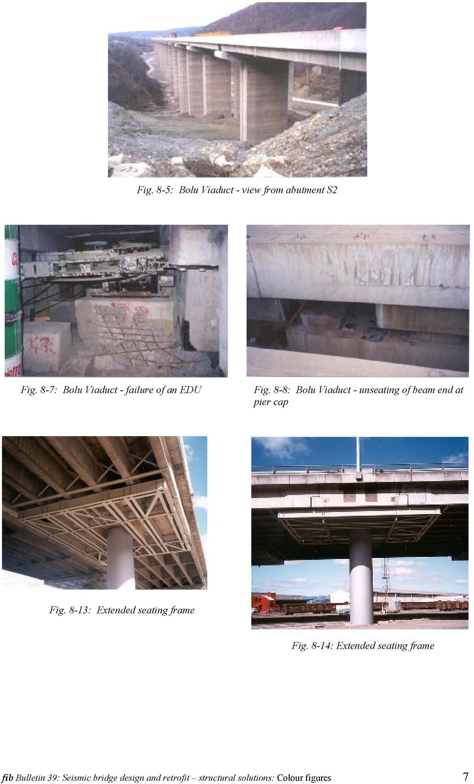8-8: Bolu Viaduct - unseating of beam end at pier cap Fig.