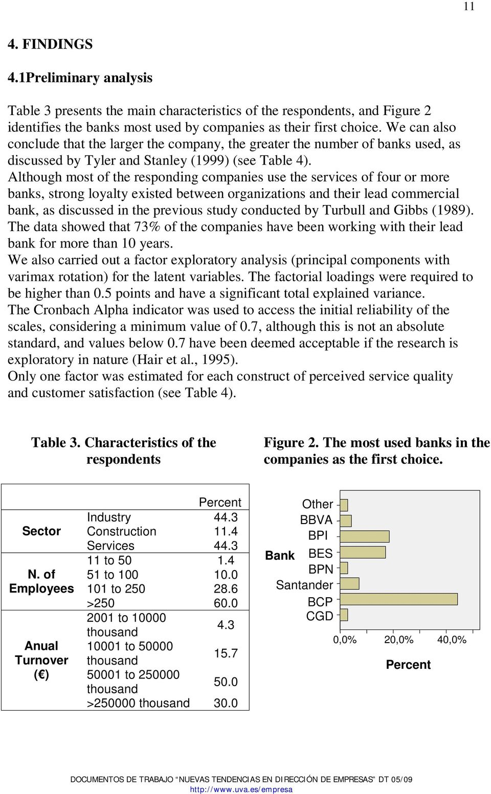 Although most of the responding companies use the services of four or more banks, strong loyalty existed between organizations and their lead commercial bank, as discussed in the previous study