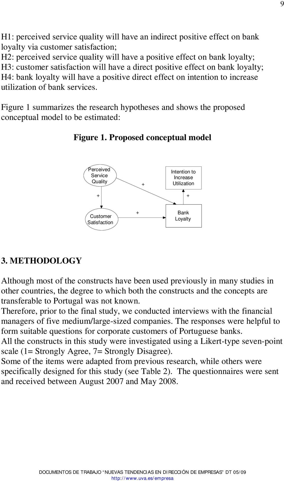 Figure 1 summarizes the research hypotheses and shows the proposed conceptual model to be estimated: Figure 1.