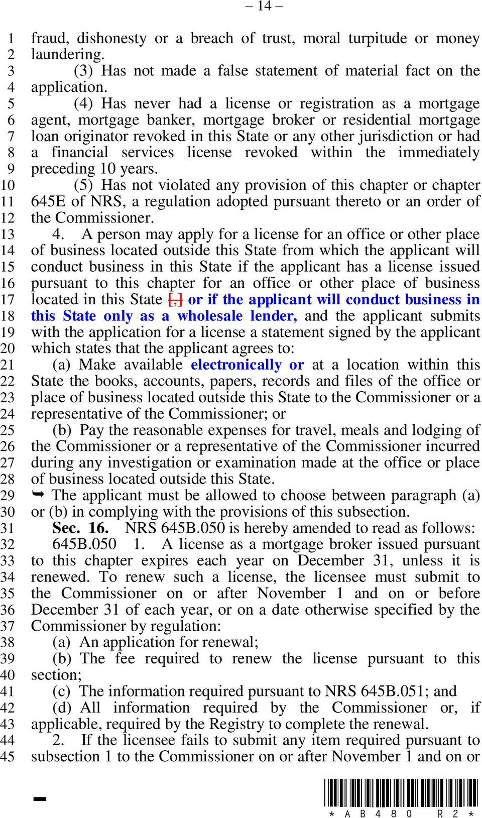 financial services license revoked within the immediately preceding years.