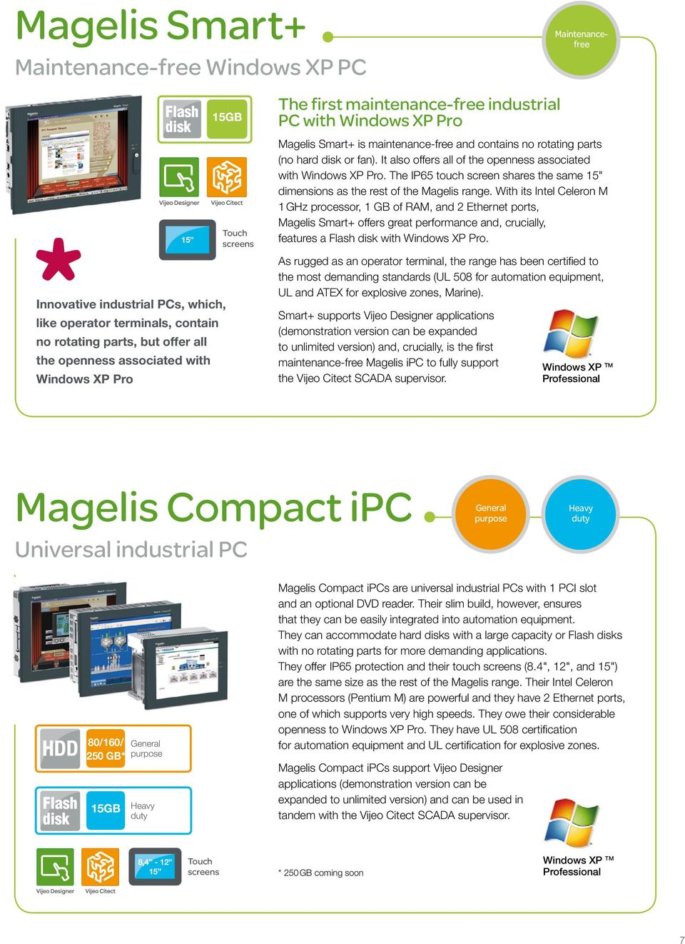 "It also offers all of the openness associated with Windows XP Pro. The IP65 touch screen shares the same 15"" dimensions as the rest of the Magelis range."