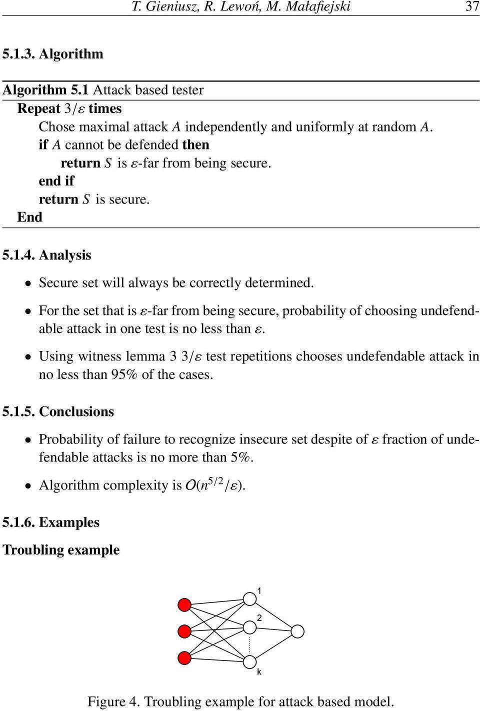 For the set that is ε-far from being secure, probability of choosing undefendable attack in one test is no less than ε.