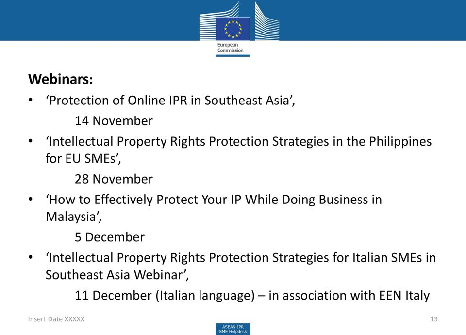 While Doing Business in Malaysia, 5 December Intellectual Property Rights Protection Strategies for