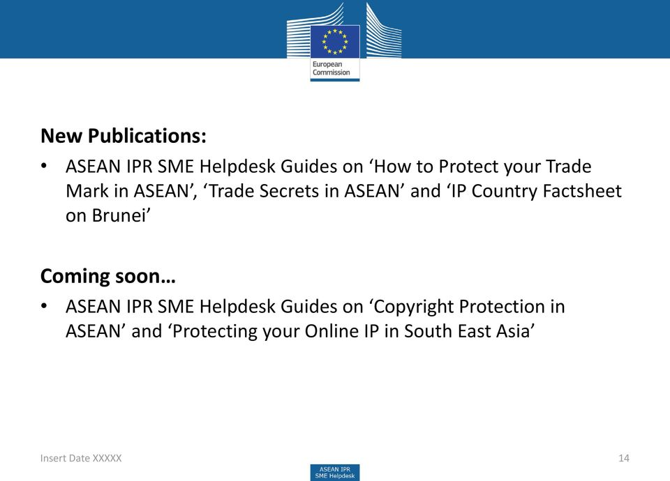 Brunei Coming soon ASEAN IPR SME Helpdesk Guides on Copyright Protection