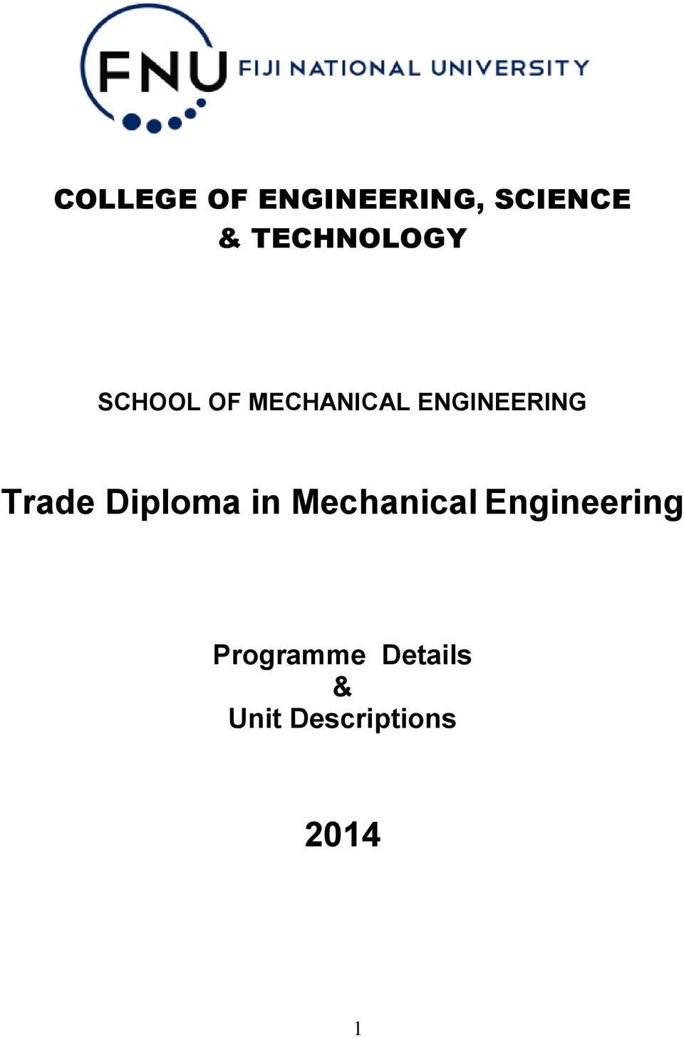 ENGINEERING Trade Diploma in Mechanical