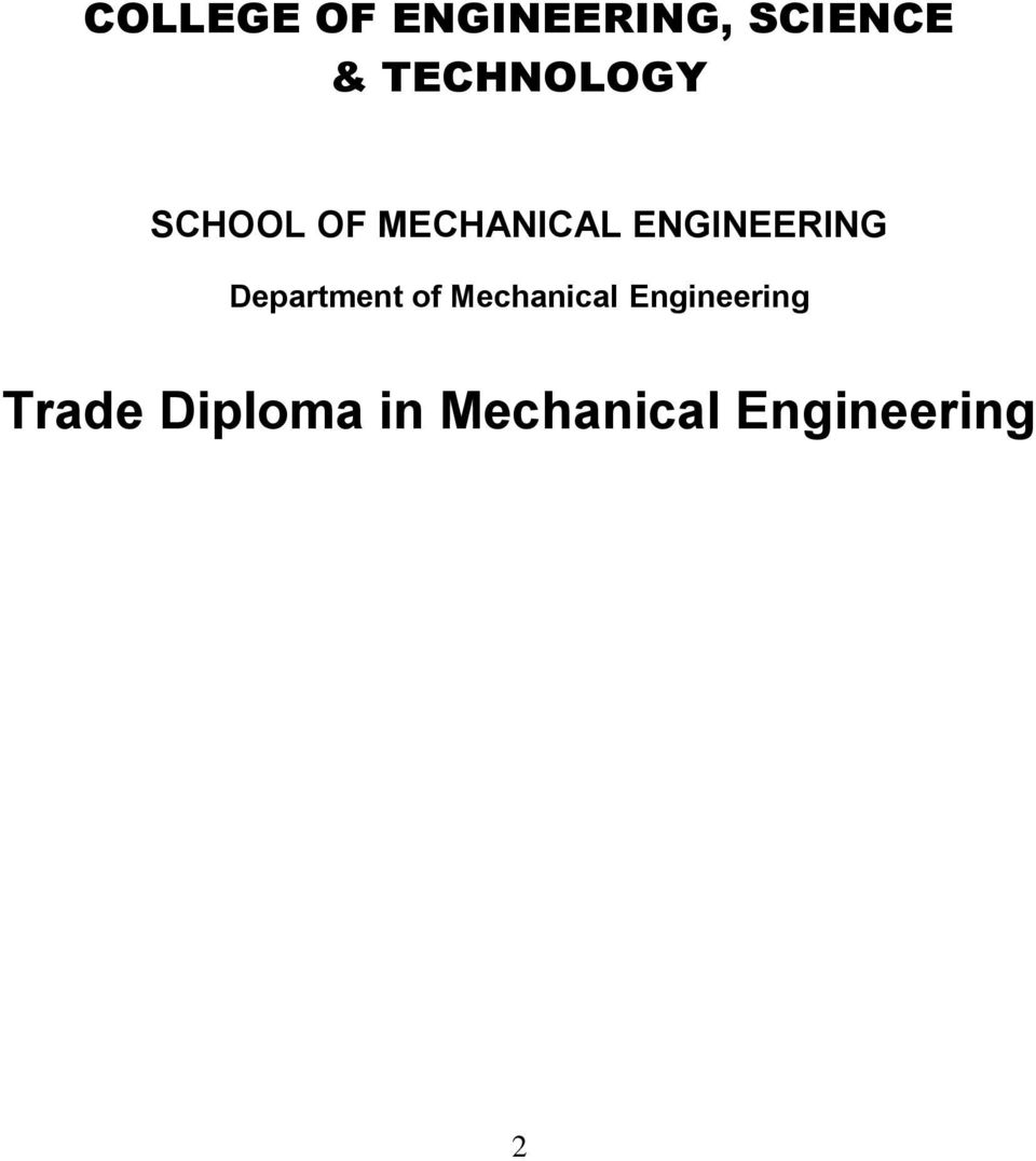 ENGINEERING Department of Mechanical