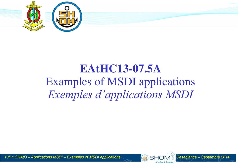 Exemples d applications MSDI