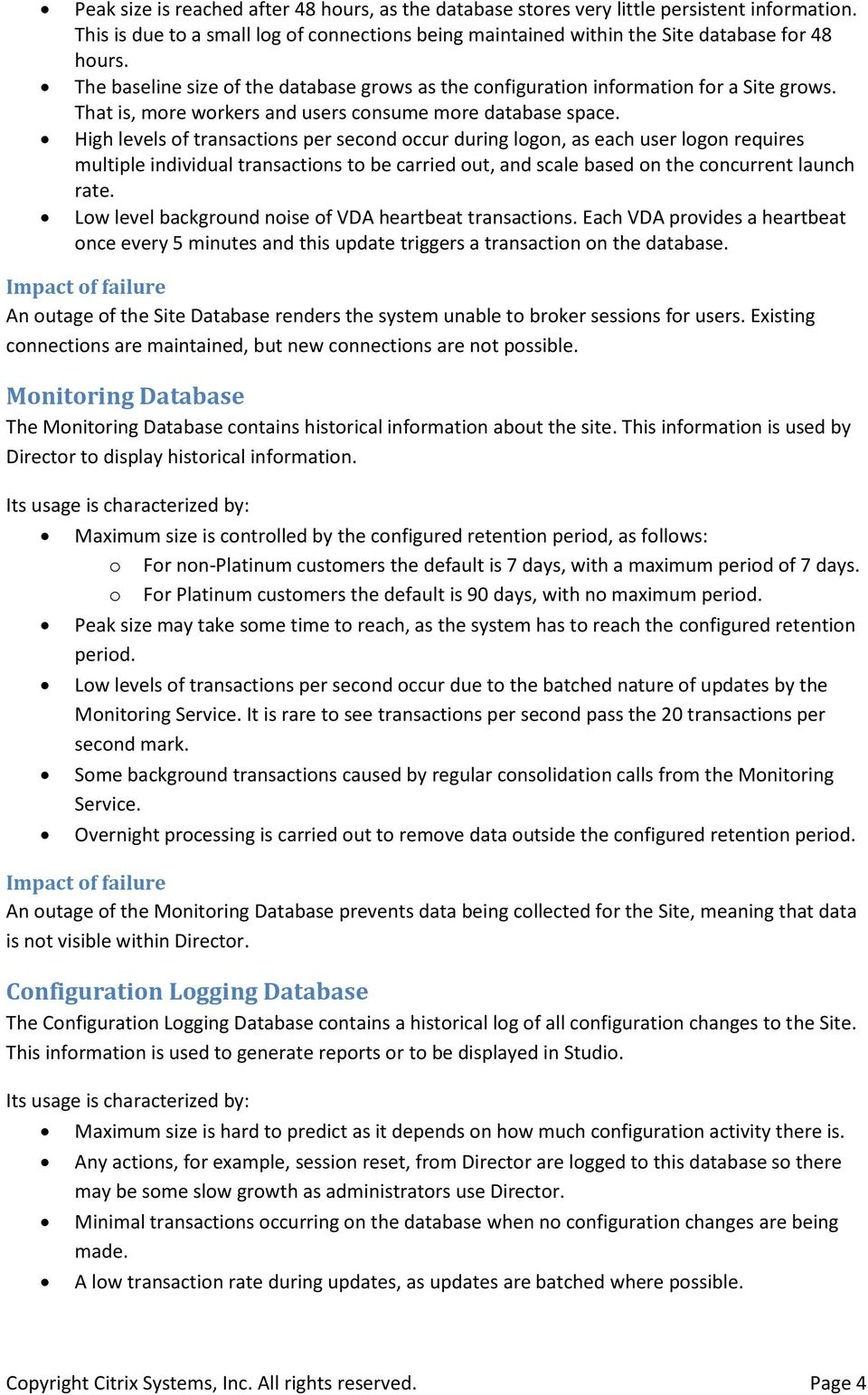 XenDesktop 7 Database Sizing - PDF