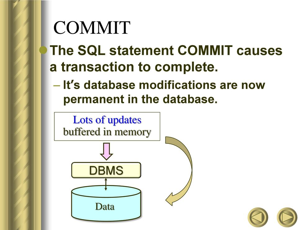 It s database modifications are now