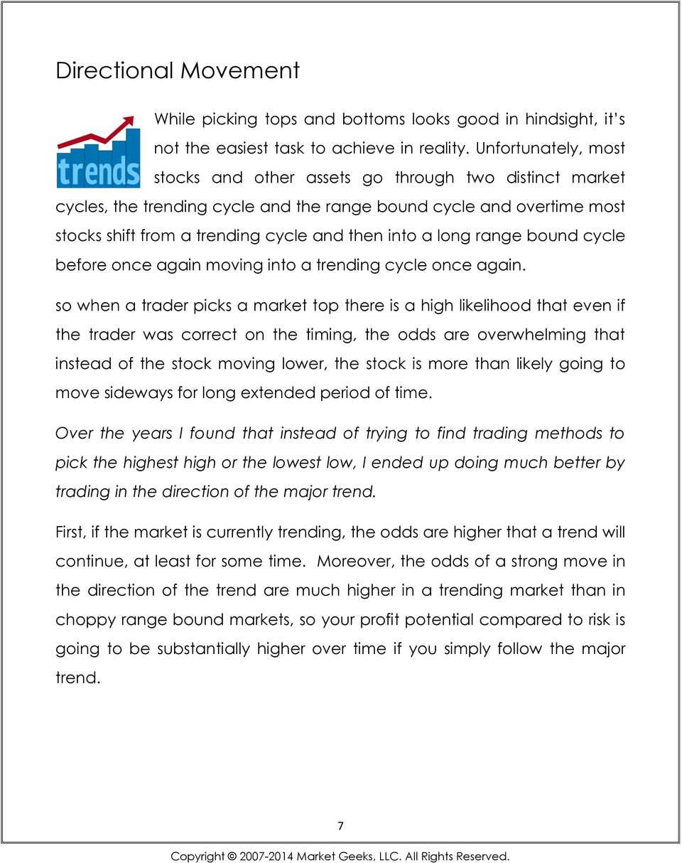 long range bound cycle before once again moving into a trending cycle once again.
