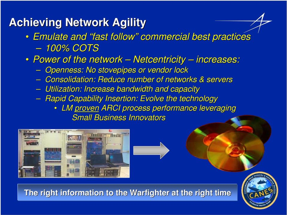 servers Utilization: Increase bandwidth and capacity Rapid Capability Insertion: Evolve the technology LM