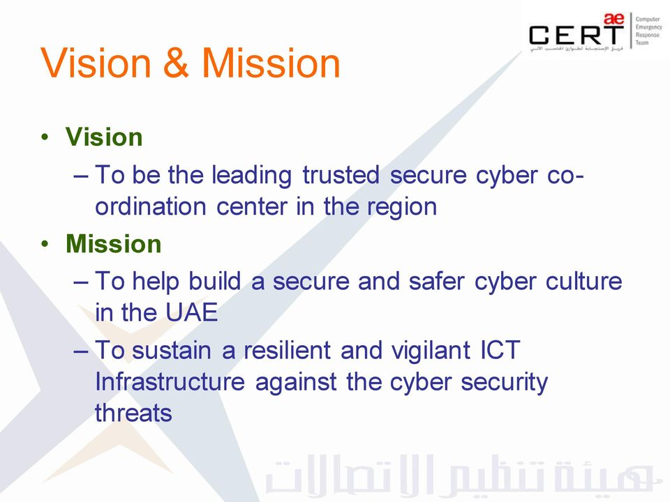 secure and safer cyber culture in the UAE To sustain a