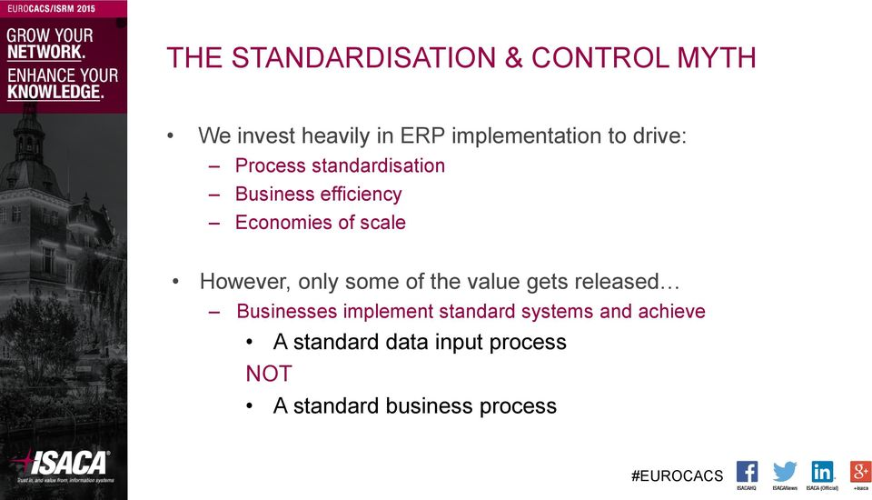 However, only some of the value gets released Businesses implement standard