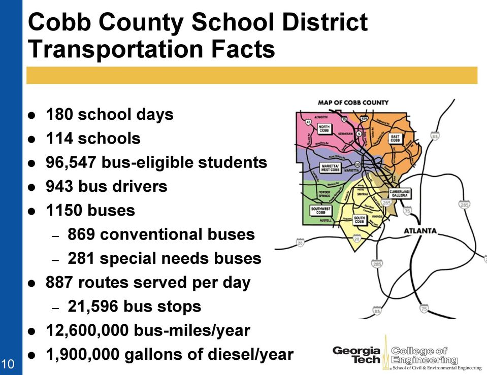869 conventional buses 281 special needs buses 887 routes served per