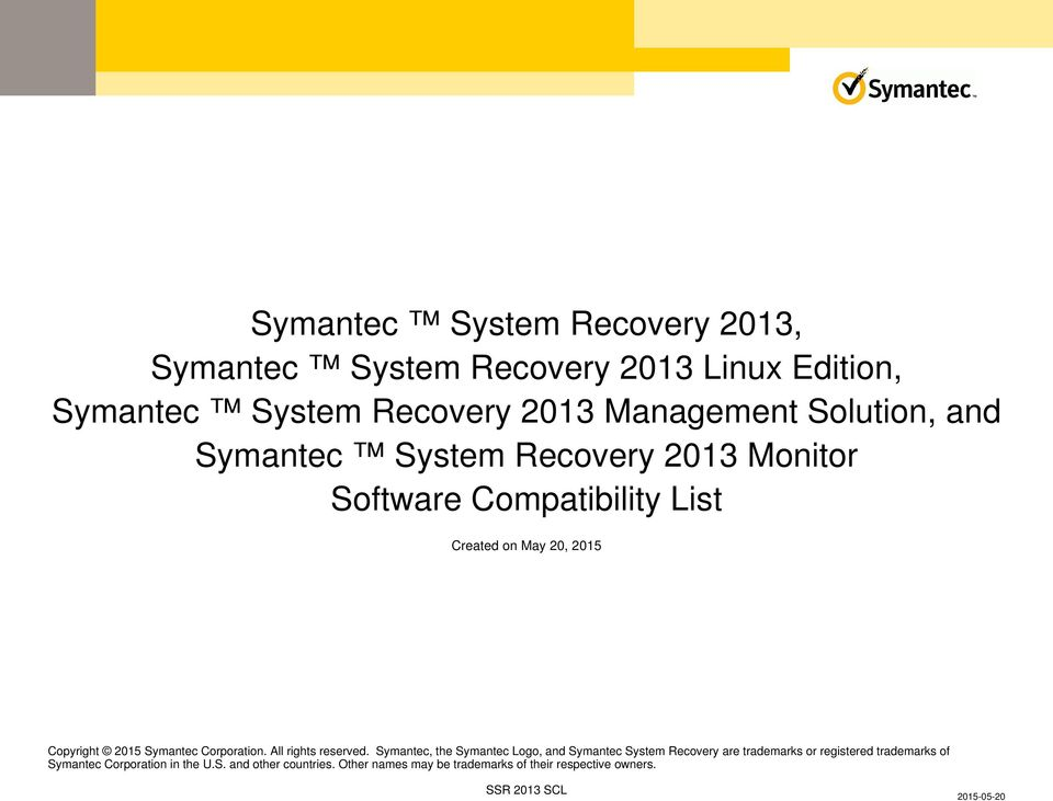 Symantec Corporation. All rights reserved.