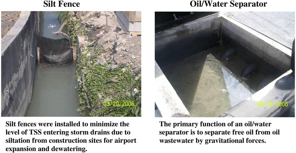 for airport expansion and dewatering.