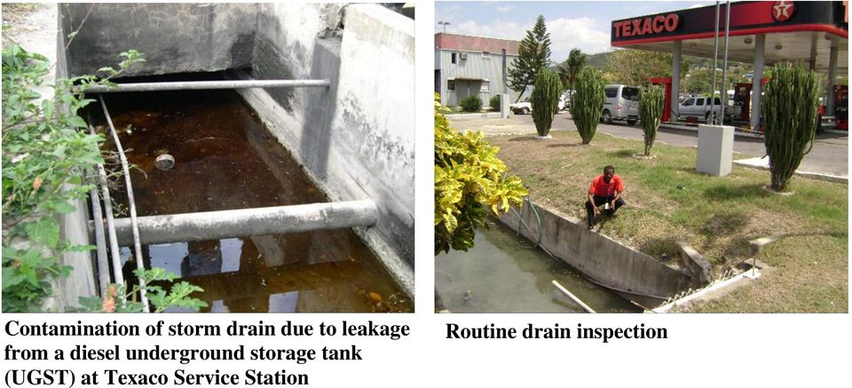 underground storage tank (UGST) at