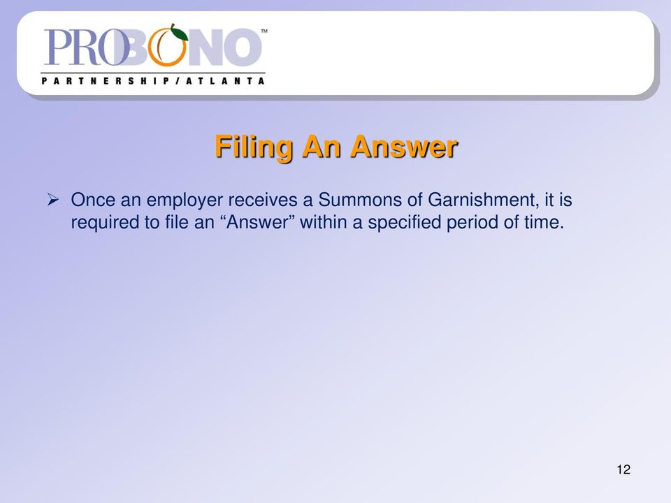 it is required to file an Answer
