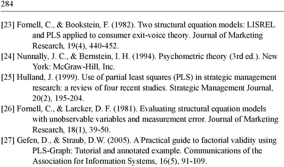 Strategic Management Journal, 20(2), 195-204. [26] Fornell, C., & Larcker, D. F. (1981). Evaluating structural equation models with unobservable variables and measurement error.