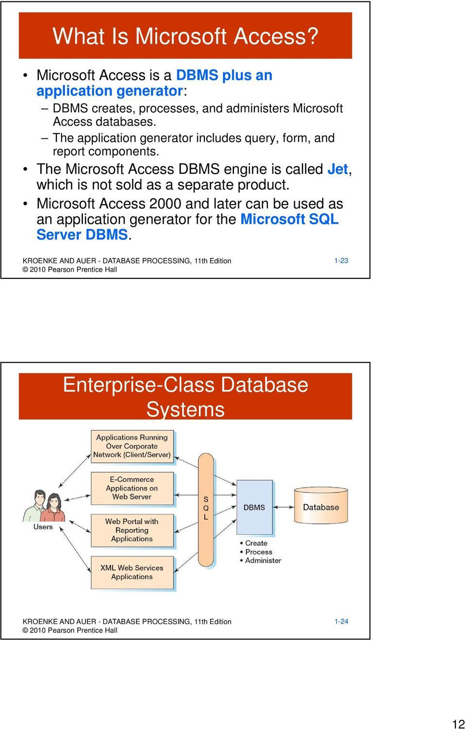 databases. The application generator includes query, form, and report components.