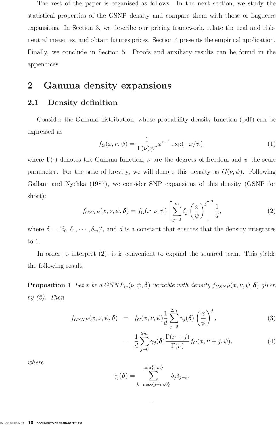 appendices. 2 Gamma density expansions 2.
