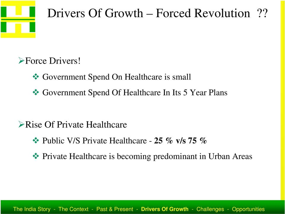 Healthcare In Its 5 Year Plans Rise Of Private Healthcare Public V/S