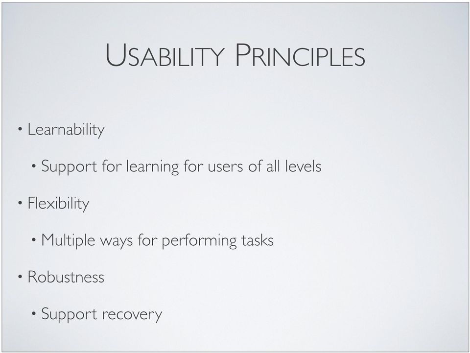 levels Flexibility Multiple ways for