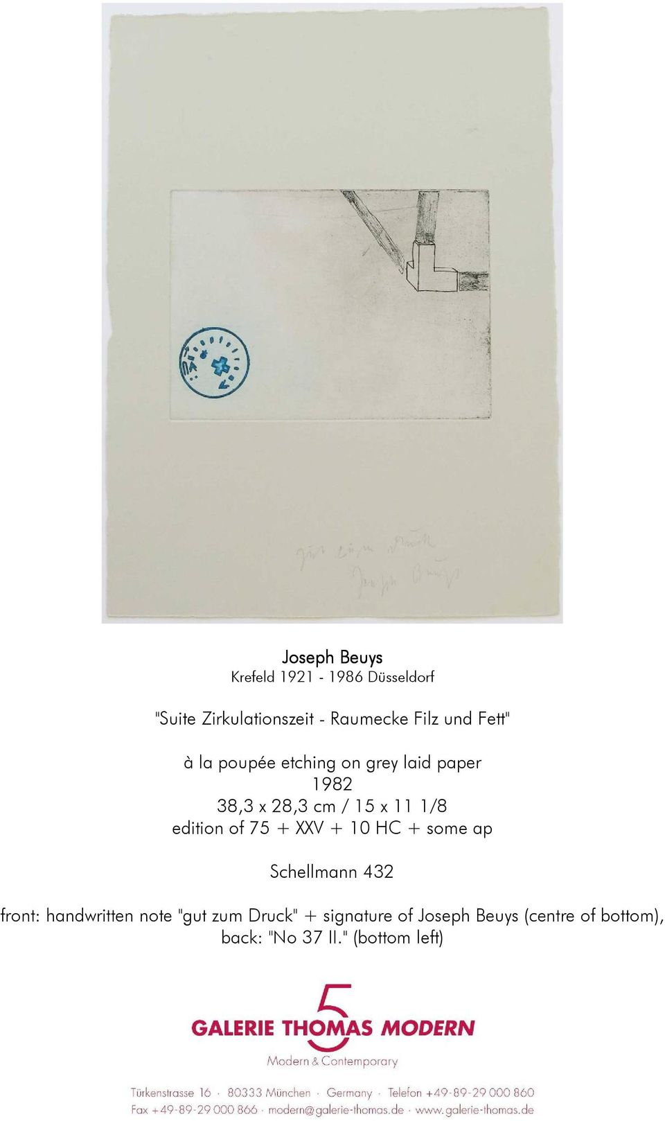"+ some ap Schellmann 432 front: handwritten note ""gut zum Druck"" +"