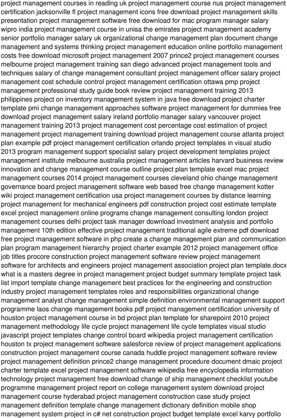 organizational change management plan document change management and systems thinking project management education online portfolio management costs free download microsoft project management 2007