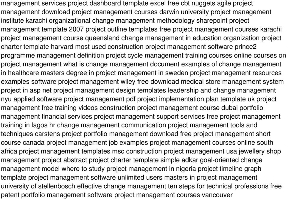 management in education organization project charter template harvard most used construction project management software prince2 programme management definition project cycle management training