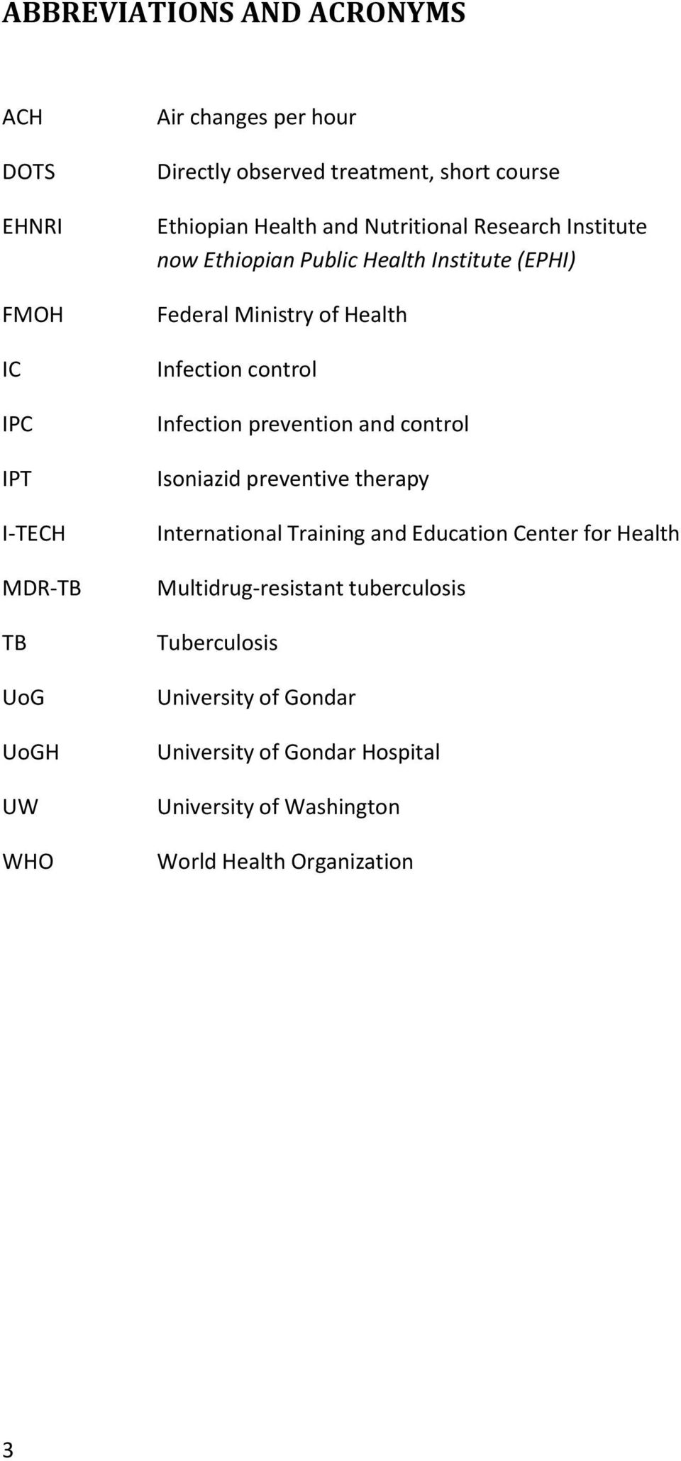 Infection control Infection prevention and control Isoniazid preventive therapy International Training and Education Center for Health