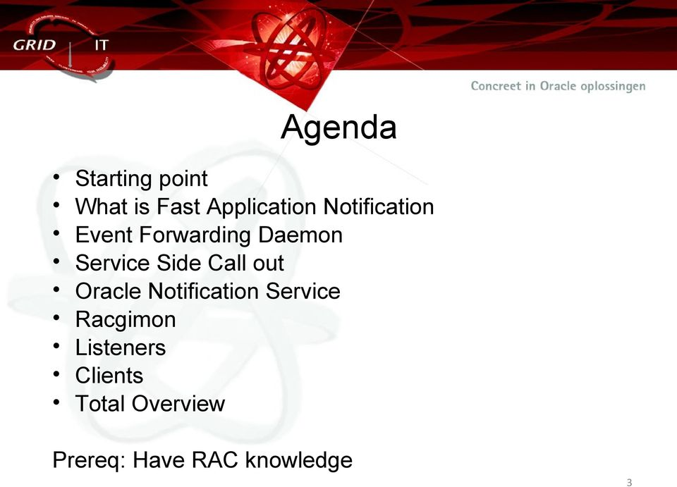 Call out Oracle Notification Service Racgimon