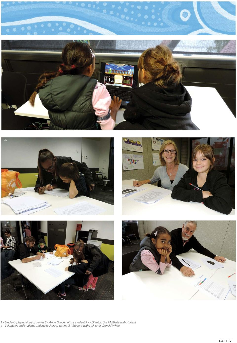 a student 3 - ALF tutor, Lisa McGlade with student 4 -