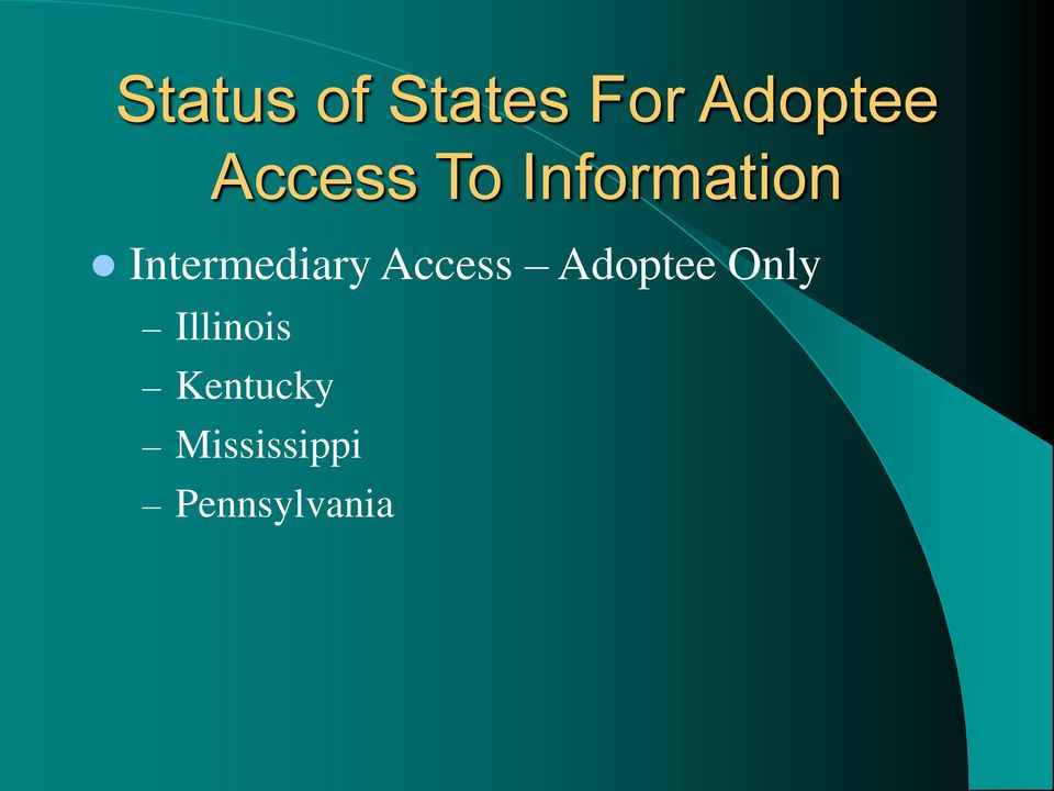 Intermediary Access Adoptee