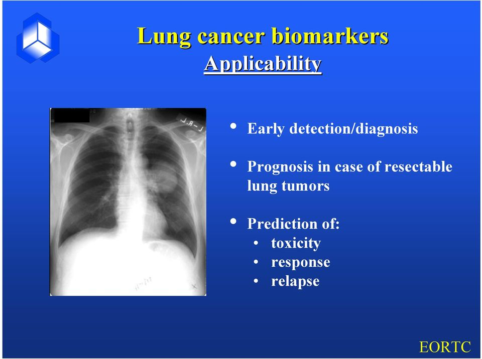 in case of resectable lung tumors