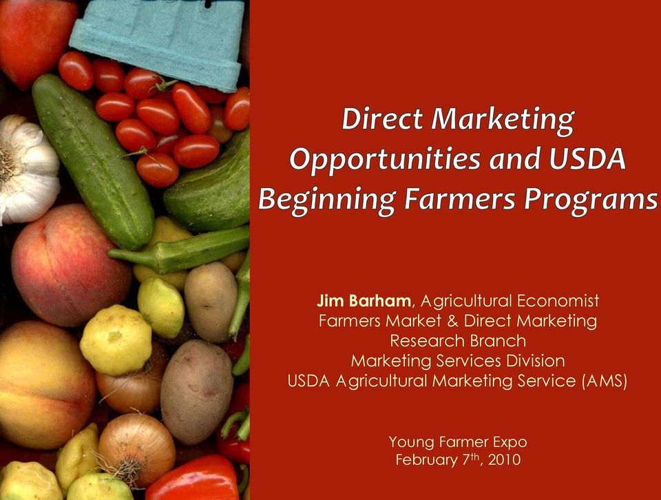 Marketing Services Division USDA Agricultural
