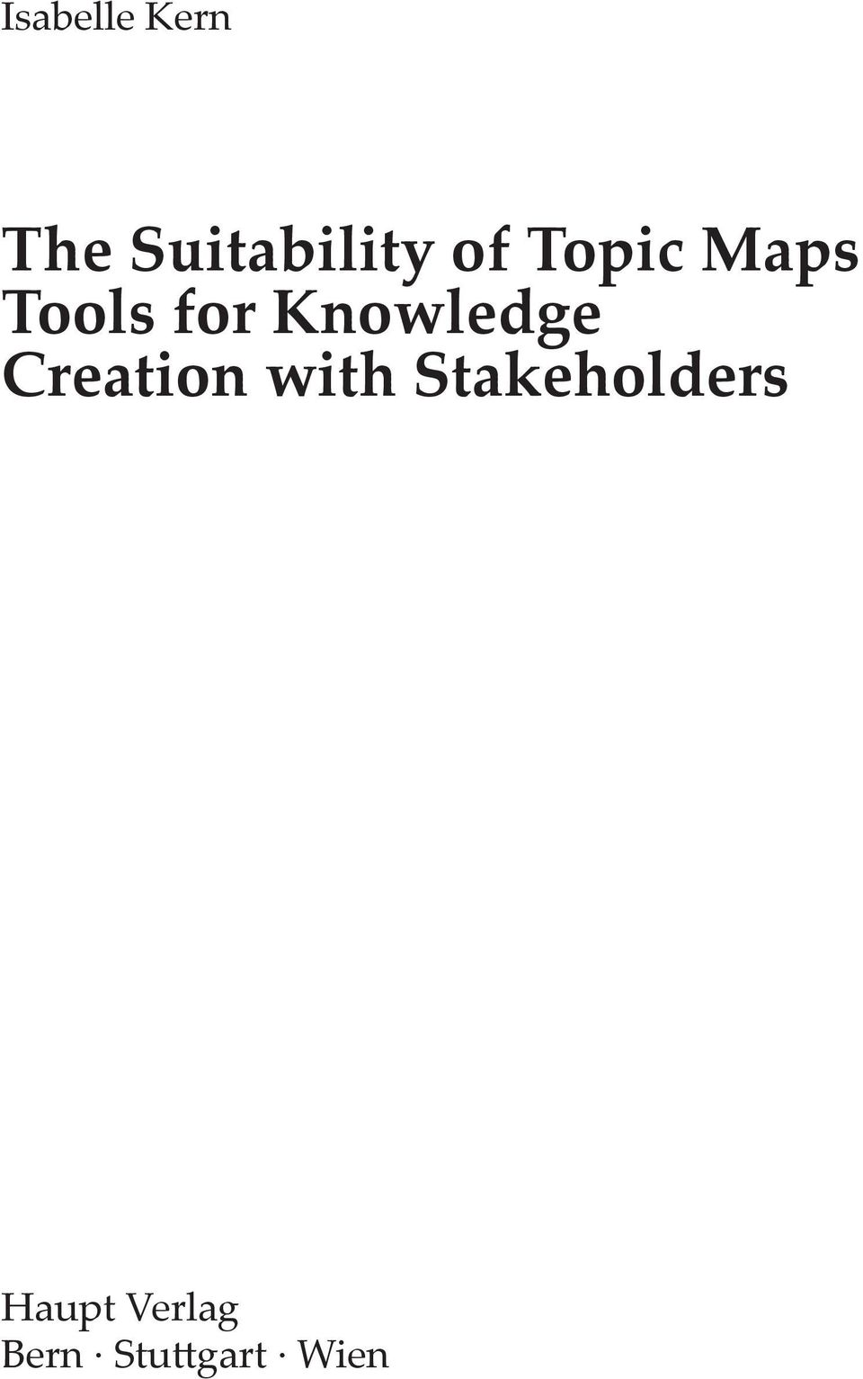 Knowledge Creation with