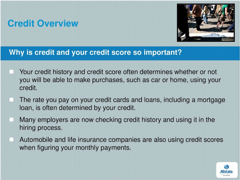 home, using your credit.