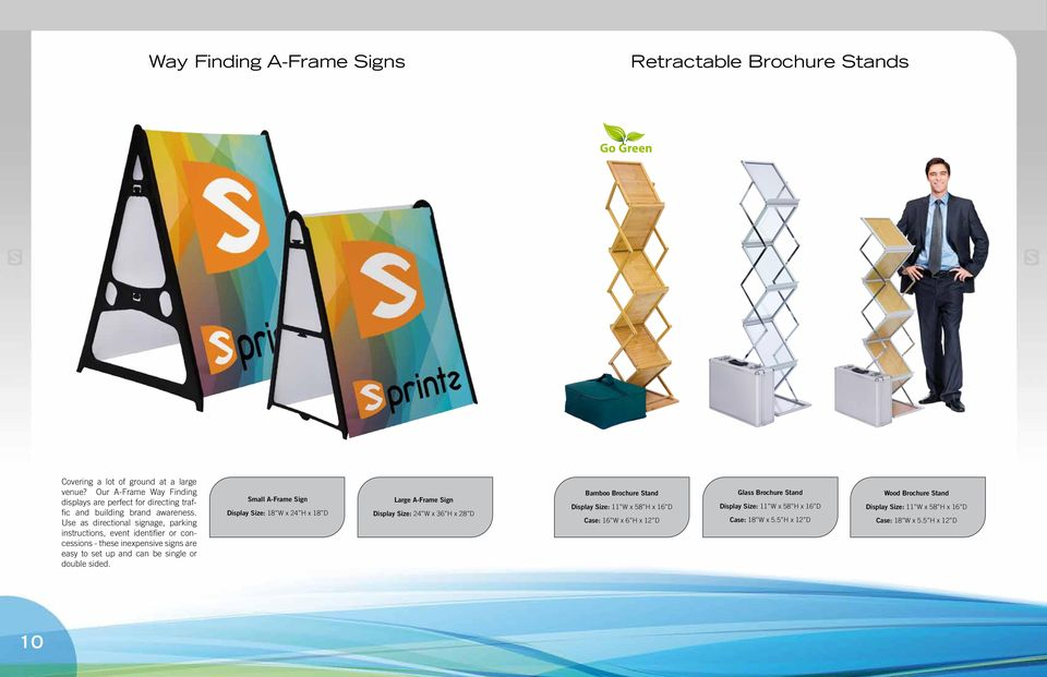 Use as directional signage, parking instructions, event identifier or concessions - these inexpensive signs are easy to set up and can be single or double sided.